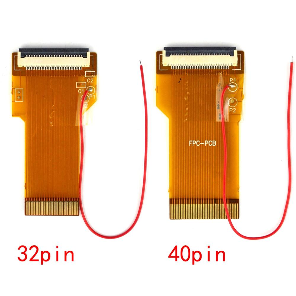 100 pièces pour GBA ruban câble 32pin 40 broches AGS 101 rétro-éclairé adaptateur écran Mod avec câble