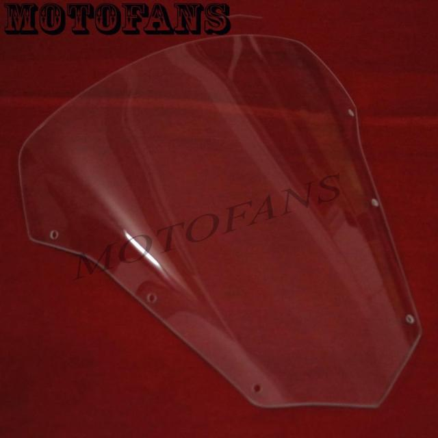 High Quality Racer Transparent Deflector Ariflow Windshield Motorcycle WindScreen for Yamaha FZ6 FAZER S2 2007 2009 2010 Clear