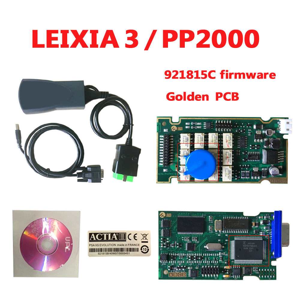 Beste Goldene PCB PP2000 Lexia 3 mit 921815C Firmware Lexia-3 V48/V25 Diagbox 7,83 Lexia3 PP2000 Auto Scanner Diagnose werkzeug