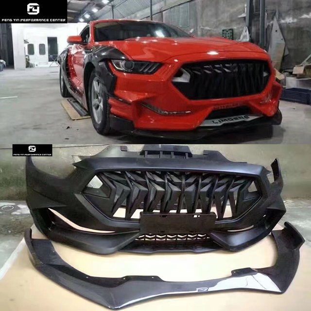 Wide Car Body Kit Frp Unpainted Front Bumper Carbon Fiber Front Lip