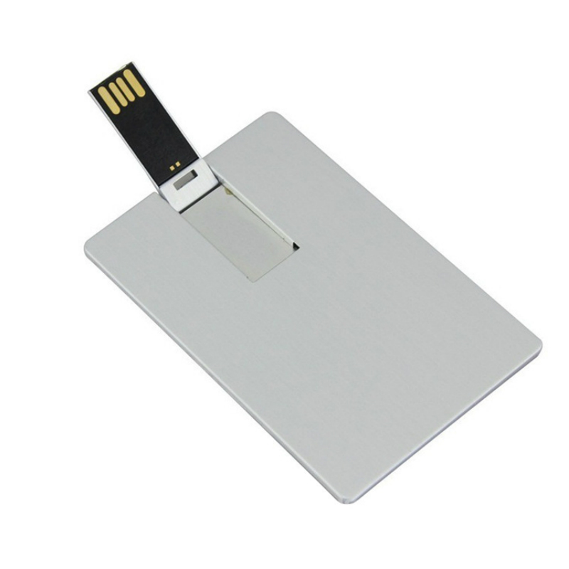 Promotional Metal Custom Laser Print Super Thin Credit Card Usb Flash Drive USB Card 1g 2g 4g 8g 16g DIY Your Logo Aluminum