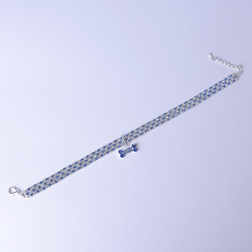 petit collier pour chien avec diamant et strass