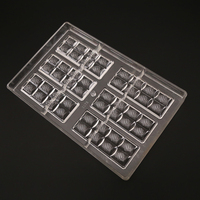 One Piece 6x2 Lines Chocolate Bar Mold Polycarbonate Jelly Mould Hard Injection PC Candy Tray Pastry Baking Dish