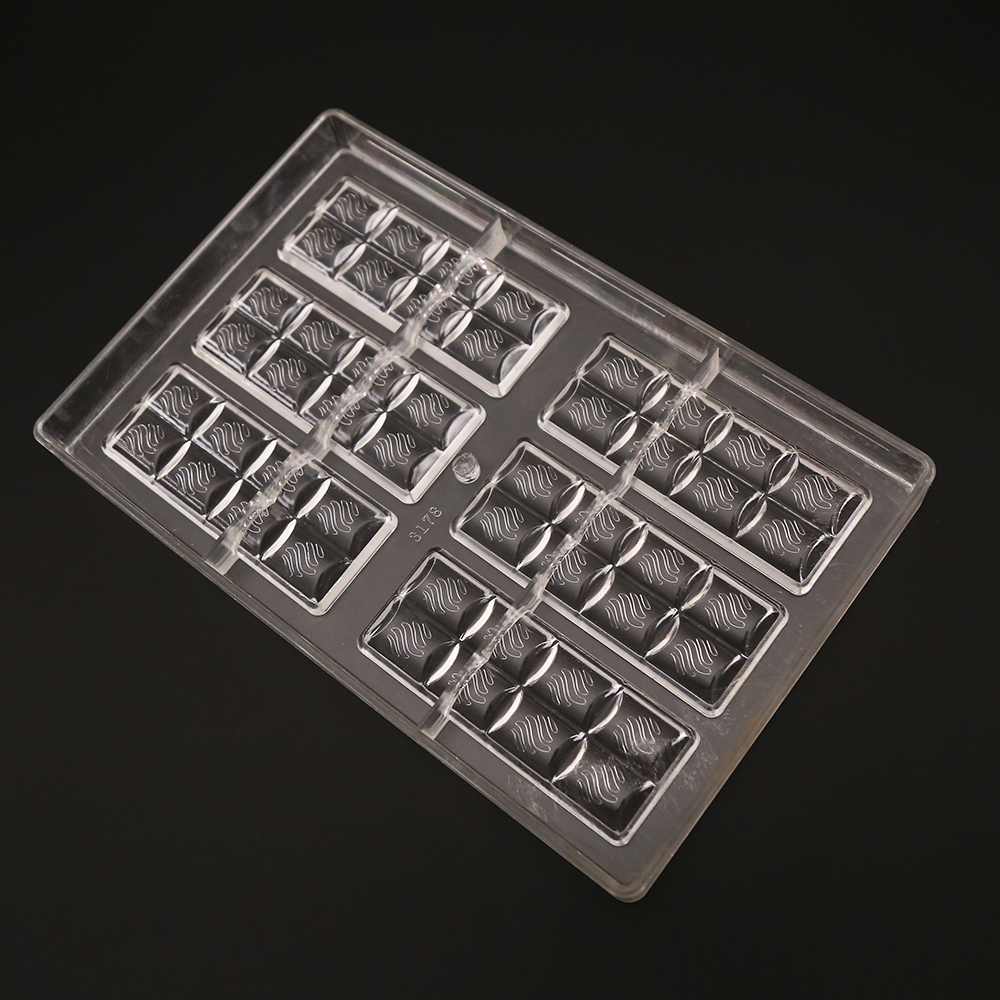 One Piece New Arrival 6x2Lines Chocolate Bar Mold Polycarbonate Jelly Mould Hard Injection PC Candy Tray
