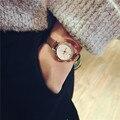 Rosa Pequeña Esfera de Oro Del Encanto de Las Señoras Relojes de Pulsera 2016 Mujeres de Lujo de Moda Reloj de Cuarzo Reloj de Las Mujeres Relojes Retro Marrón Famale