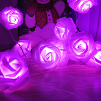 10M 100LED Rose Flower LED String Lights 110 220V Event Christmas Wedding Birthday Party Decoration Fairy
