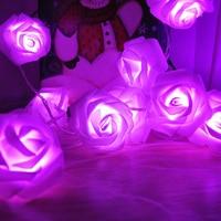 10M 100LED Rose Flower LED String Lights 110 220V Event Christmas Wedding Birthday Party Decoration Fairy