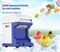 Electric Ice Planer Commercial Ice Crusher 220V 110V Automatic Snow cone machine Cube Ice Crusher 1.8kg/min White/Blue