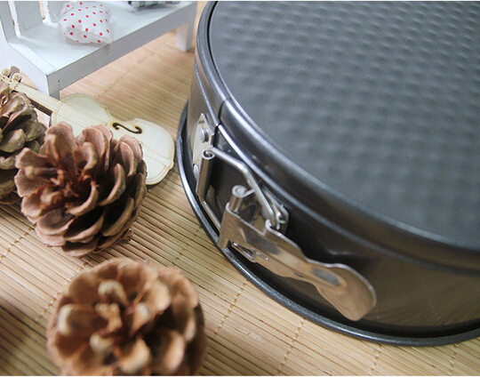 """1PC 8"""" Baking Tools Flan Tin Tart Pie Pan Fluted Cake Baking Tray Non Stick Loose Base Mold Dish Pie Black Drop Bottom JC 0511"""