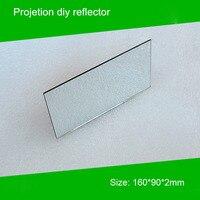 1 шт 160*90*2 мм мини-проектор diy отражатель зеркало проектора аксессуар для проектора diy