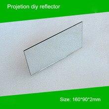 1 peça 160*90*2mm Mini Projetor diy Projetor Refletor Espelho acessório para projetor diy