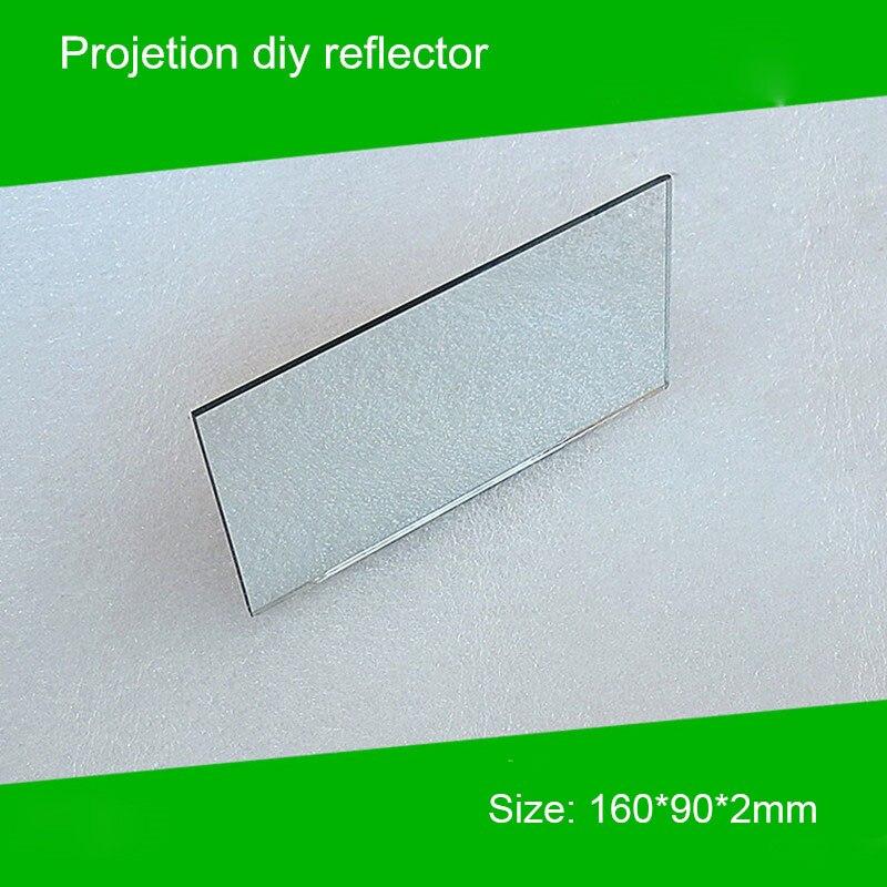1 piece 160*90*2mm Mini Projector diy Reflector Projector Mirror accessory for projector diy