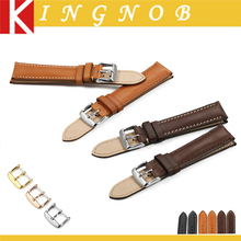 Chimaera 18mm 20mm Black Brown Coffee Watch band France calf Leather WatchBand Watch Strap For Tissot Seiko IWC Casio