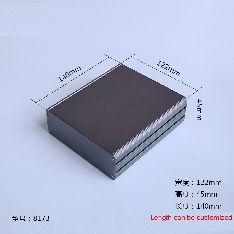 1 piece gray color aluminum housing case for electronics project case 45(H)x122(W)x140(L) mm 8173 250 73 5 250 mm w h l control box aluminum extrusion enclosure for electronics electronics aluminum case housing project case
