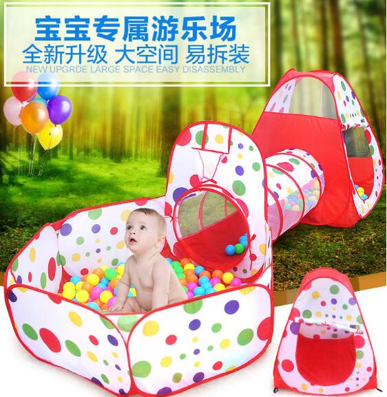 Baby Toy Tent 3 In 1 Kids Children Baby Crawling Play Tent House Children Toy Ball Pool for Ocean Ball Play Soft Outdoor sport