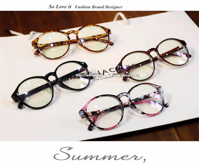 b47959f0ae175 Armações de Óculos de moda Retro Rodada Grau Masculino Armações de Óculos  de Olho Para As