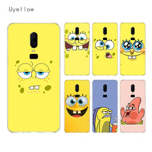 Uyellow Cute SpongeBob SquarePants Silicone Soft TPU Phone Case For One Plus 7 Pro 6 6T 5 5T Fashion Fundas Printed Cover Coque