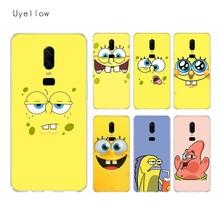 Uyellow Cute SpongeBob SquarePants Silicone Soft TPU Phone Case For One Plus 7 Pro 6 6T 5 5T Fashion Fundas Printed Cover Coque
