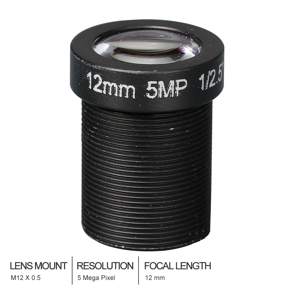 HD cctv lens 5MP 12MM M12*0.5 Mount 1/2.5 F2.0 25 degree for security CCTV cameras cameye hd cctv lens 5mp 8mm cs mount 1 2 5 f1 4 43 degree for security cctv cameras