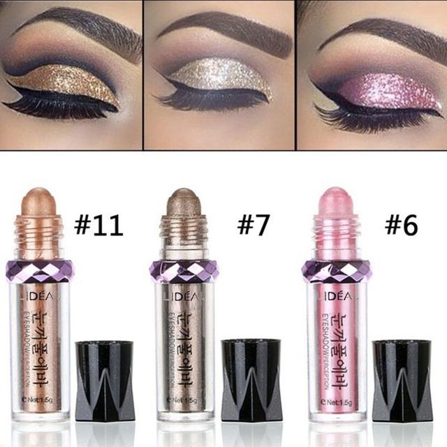 14 Colors Shimmer Balls Eyeshadow Pen Women Long Lasting Metallic Eye Shadow Makeup Nude Pigment Powder