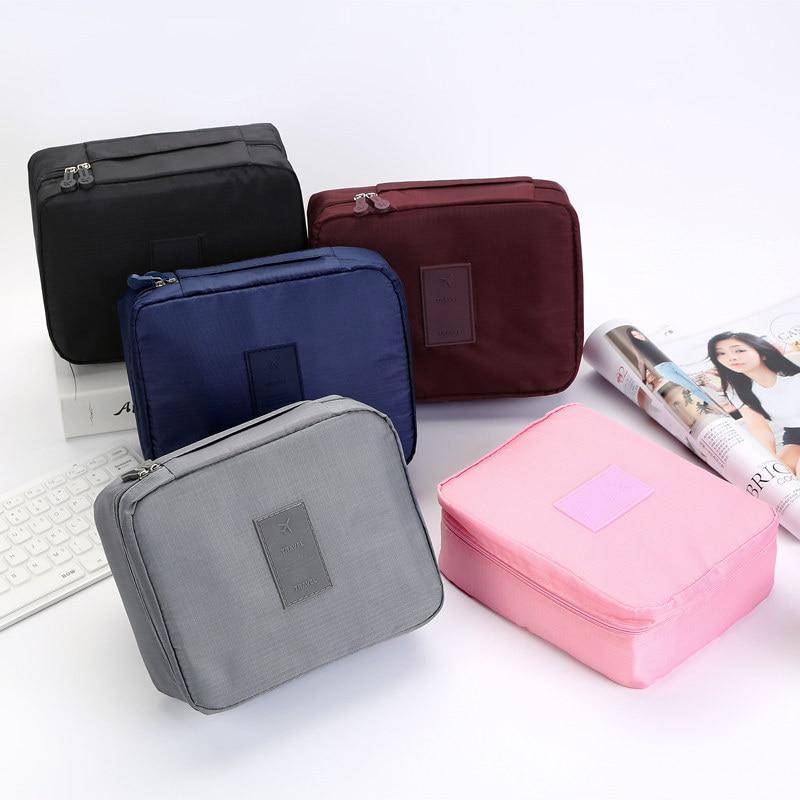 MODYCON Zipper Man Women Makeup Bag Nylon Cosmetic Bag Beauty Case Make Up Organizer Toiletry Bag Kits Storage Travel Wash Pouch
