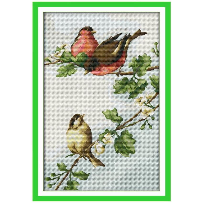 Aves y flores Pegatinas para uñas contados Cruz puntada 11ct 14ct ...
