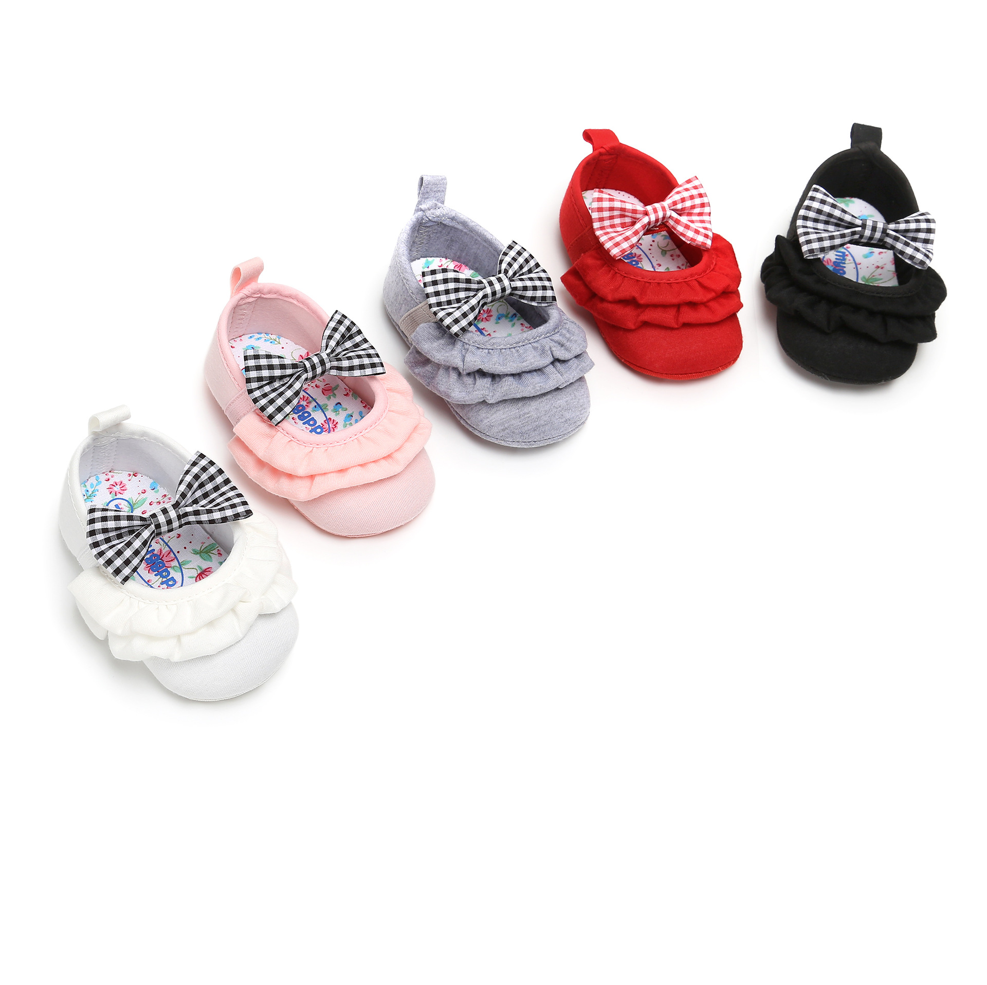 04ef4737d46a5 Newborn Baby Girls Princess Shoes First Walkers Soft Sole Nonslip Footwear Hot  Moccs Shoe Fashion Bowknot