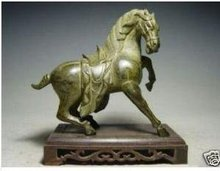 The Chinese Bronze Statues & calculates the Horse (A0321)