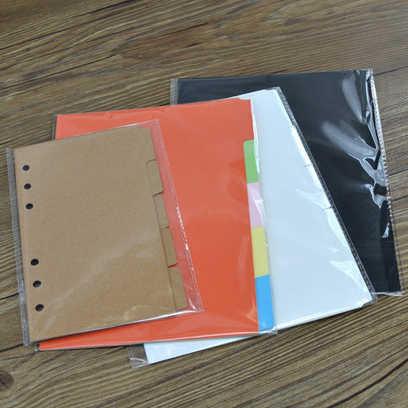 Harphia 3 Colors DIVIDER Craft Separate Page White Simple But Good Match For 6 Holes Loose Leaf Notebook Agenda Planner Filofax