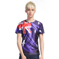 New Arrival Men Printing Australian Flag T Shirt Short Sleeve Summer Wear Brand Clothing T Shirt