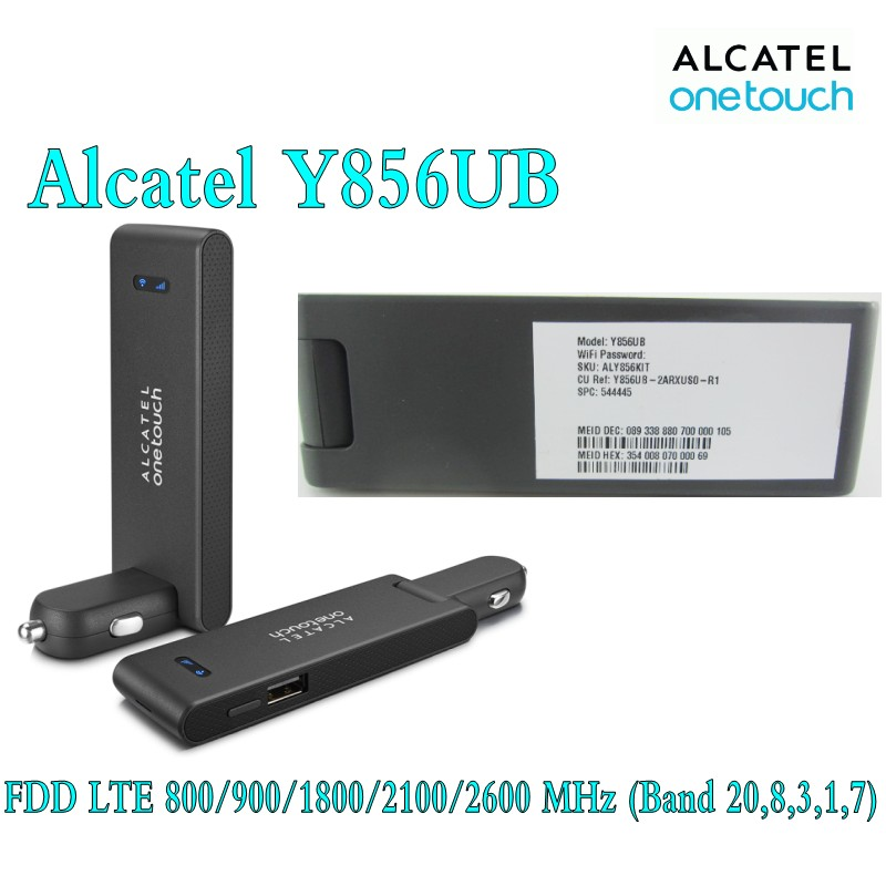 Unlocked Alcatel One Touch Y856 4G Car Mifi Router Pocket Wifi Modem ...