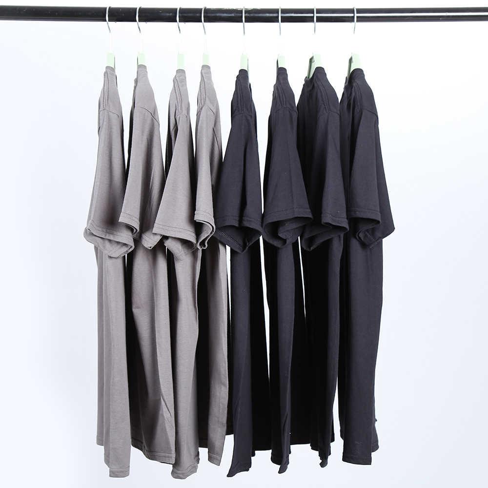 COOLMIND MO0117A 100% de algodón de manga corta casual suelta cuello redondo para hombres camiseta casual de verano cool camiseta suelta camisetas