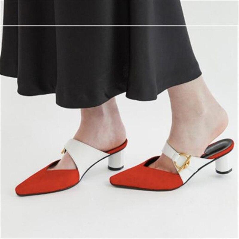 Événement Couleurs Chic Marque Show Designer Appartements Show Zapatos Élégant as Femmes As Mocassins Chaussures Mix Mujer Parti Nouveau Pantoufles De Coréen Boucle Diapositives AqnqvT