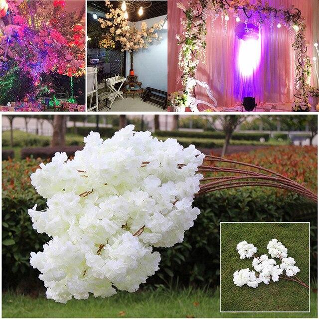 Baru Buatan 3 Branchlets 140 Kepala Simulasi Bunga Sakura Bunga Sutra Palsu  Pernikahan Dekorasi Rumah Aksesoris a35fb44c2f
