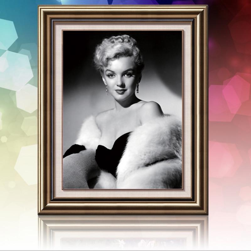 Vyšívání diy diamantové výšivky Marilyn Monroe DIY 5D diamantové malby Cross Stitch náměstí drahokamu obrázek domů malby