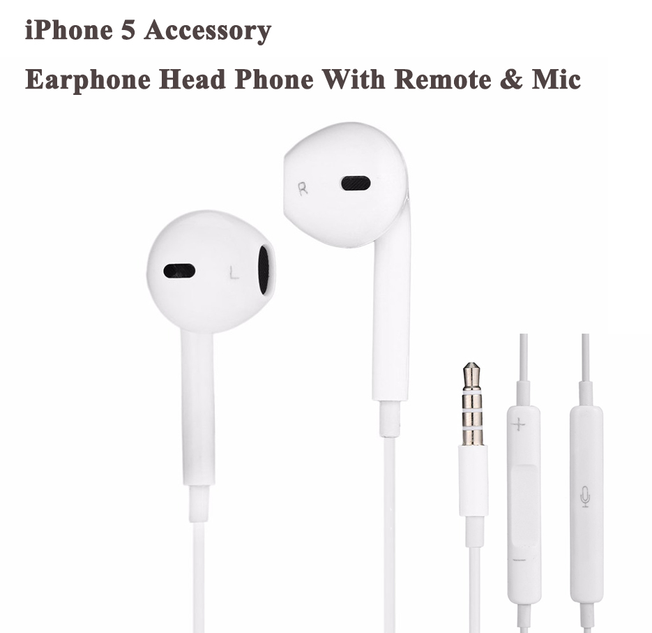 Professional Fashion Design With Box Headset Earphone Head Phone With Remote & Mic for iPhone 5 Accessory AA1183