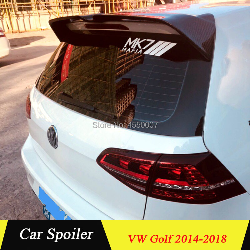 High Quality Rear Trunk Roof Spoiler for Volkswagen <font><b>Golf</b></font> 7 VII Carbon Fiber Spoiler for MK7 GTI <font><b>R</b></font> 2014 2015 2016 2017 <font><b>2018</b></font> image