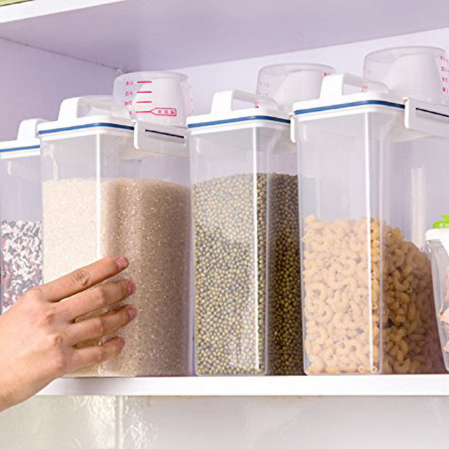 dry food storage containers. Kitchen 2L Plastic Storage Box Dry Food Clear Cereal Container Hot Sale Containers Z