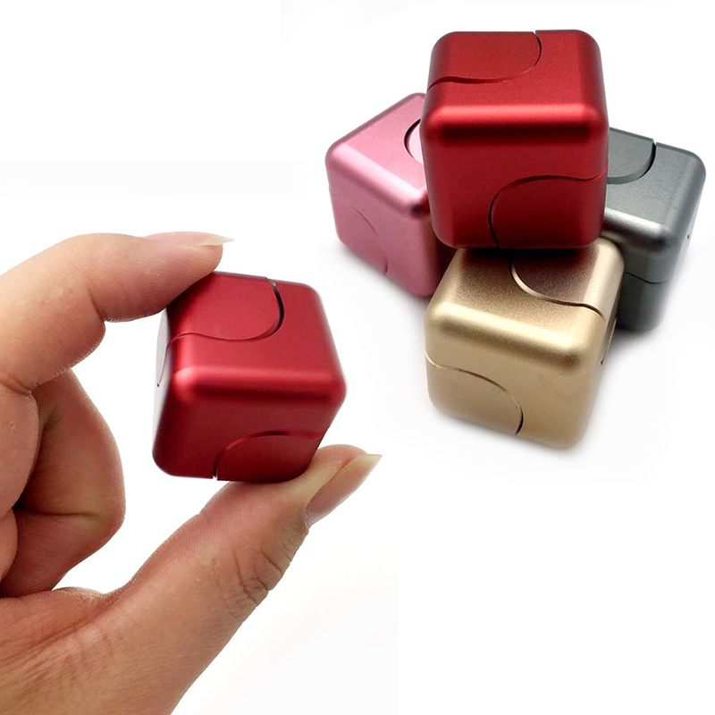 Funny Fidget Cube Spinner Adult Anti Stress Toys Spin Puzzle Magic Cube Metal Finger Toys Small