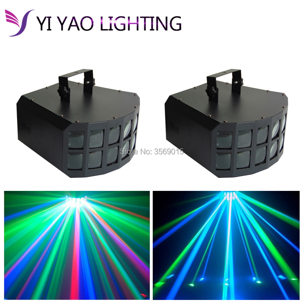 2PCS/LOT Double Butterfly Mini Derby Club Party Led Effect DMX512 Stage
