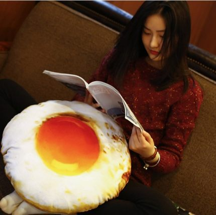 1pc 35cm Hot Funny Poached Egg Plush Pillow Cushion Staffed Soft Nap Pillow Creative Plush Gift Kids Toy Doll Christmas Gift NEW