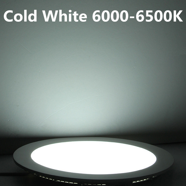 Doprava zdarma 3W 4W 6W 9W 12W 15W 25W LED Stropní zapuštěné downlight / kulaté LED Panel Light + drive