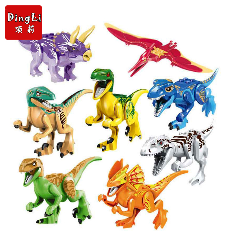 Jurassic World Dinosaurs Model Building Kits Figures Legoings Marvel Colorful Dinosaur Figures Blocks Toys For Children Gifts
