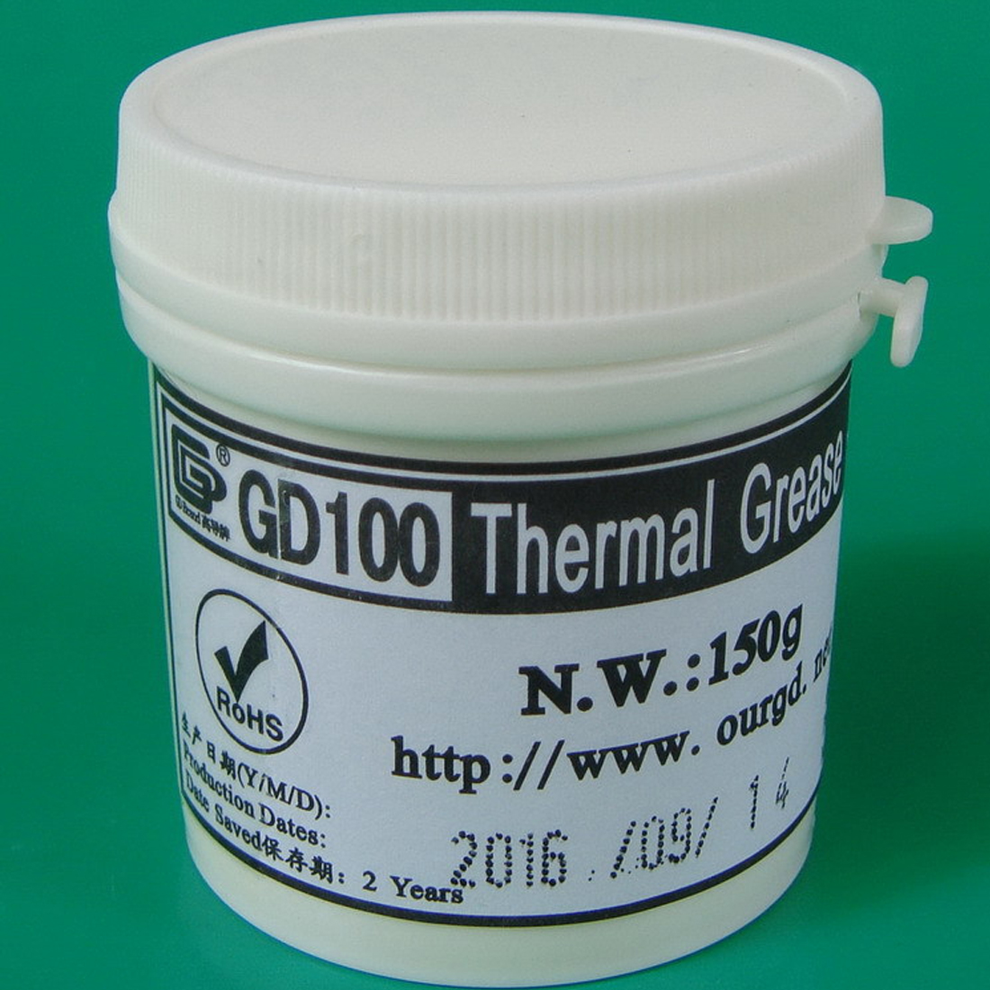 NOYOKERE Heat Sink Plaster Compound GD100 Thermal Conductive Grease Paste Silicone Net Weight 150 Grams White For CPU CN150