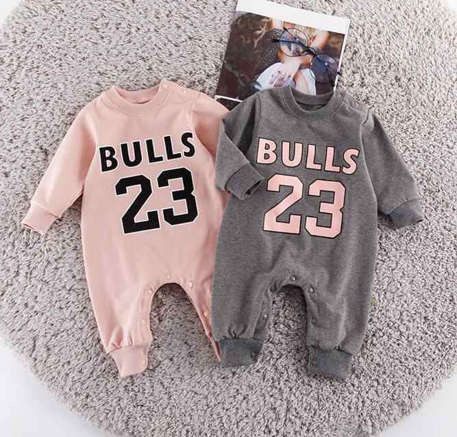 e1773fdca6e9 ... shopping children basketball chicago bulls jersey clothes long sleeved  rompers number 23 sport sweaters bebe jumpsuits ...