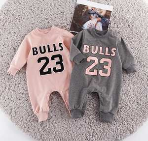 1158582eb Children Basketball Chicago Bulls Jersey Clothes Long Sleeved Rompers  Number 23 Jordan Sport Sweaters Bebe Jumpsuits Costumes
