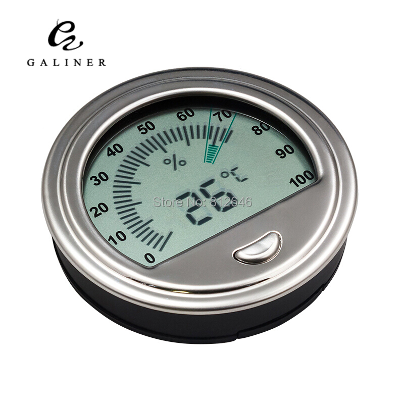 GALINER Round Digital Hygrometer Accurate Cigar Hygrometer Thermometer Wholesale