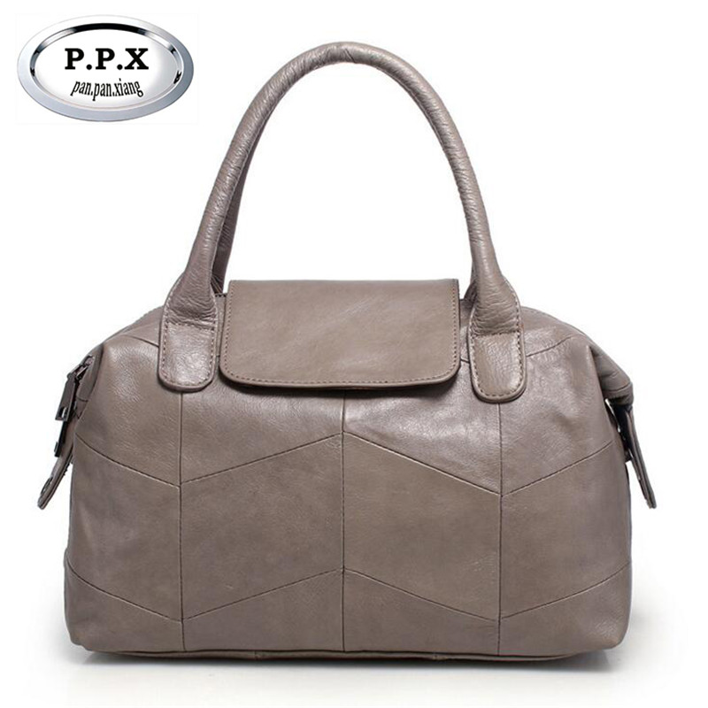 European and American Style Handbag Luxury Designer Bucket Bag Genuine Leather Women