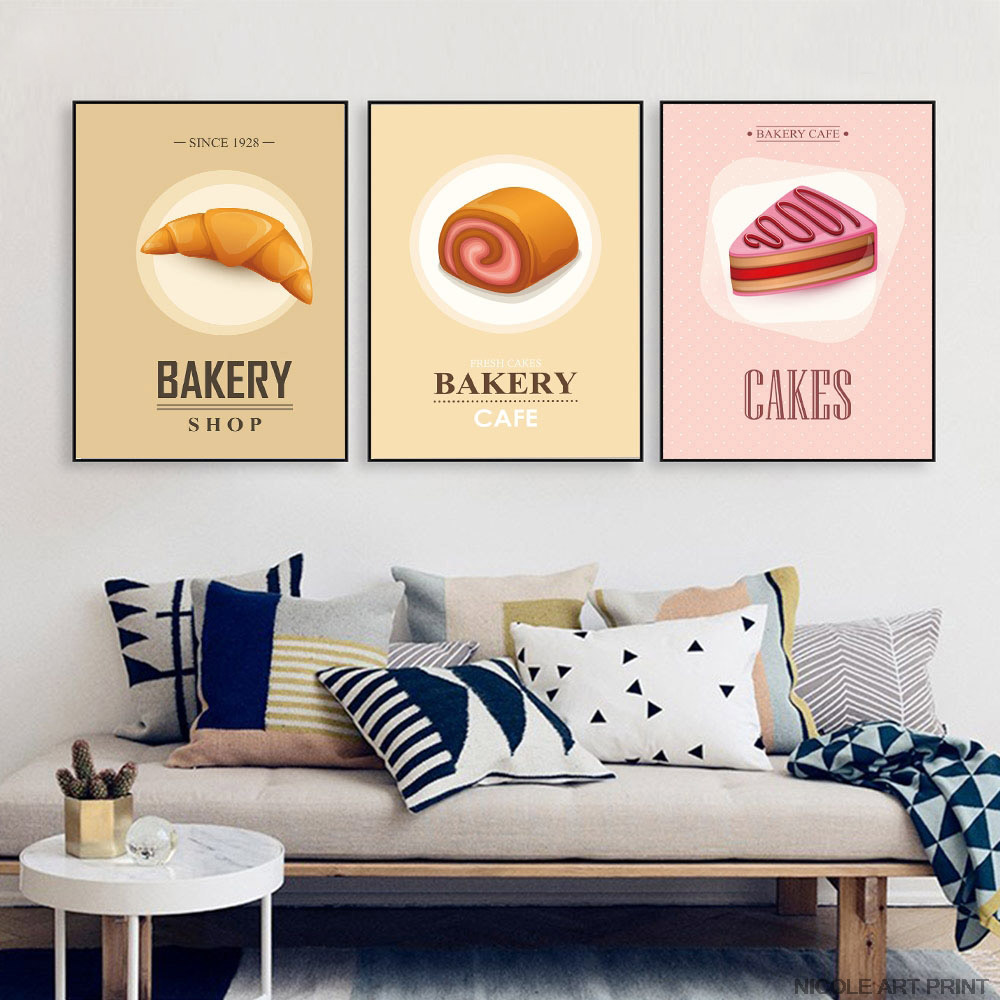 Modern Abstract Canvas Art Painting Candy Ice Cream Food Poster Funny Wall Picture Print Home Dining Room Kids Decoration