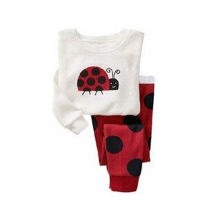 Image 4 - Pyjama pour enfant pour garçon et fille, ensemble pour la nuit avec pantalon long et haut à manches longues, imprimés animaux, matière coton